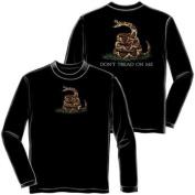 Don't Tread on Me Long Sleeve T-shirt by Erazor Bits, Black, 2XL