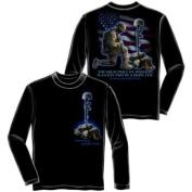 Soldiers Cross Long Sleeve T-shirt by Erazor Bits, Black, 2XL