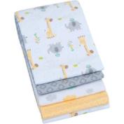 Garanimals 4-Pack Receiving Blanket, Yellow