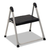 Cosco Home And Office 11014PBL1E Folding Step Stool, 1-step, 90kg, 25cm Working Height, Platinum/black