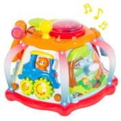Deluxe Baby Musical Activity Cube Play Centre with Lights,Tonnes of Functions & Skills - Great Gift