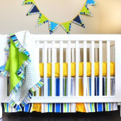 Pam Grace Creations Simply Bold 4-Piece Crib Bedding Set