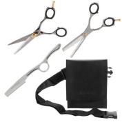 Misaki 15cm Hair Styling Thinning Shaping Shears 3PC Set, SILVER, SHR-SS-79-3