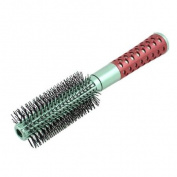 Red Green Plastic Handle Bristle Hair Brush Comb for Barbers Hairdressers
