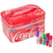 5 Pc Coca-Cola Lip Smacker Set Coke Sprite Fanta Flavour Lip Gloss & Balm In Bag