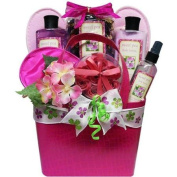 Art of Appreciation Tickled Pink Sweet Pea Spa Bath and Body Gift Basket Set