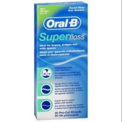 Oral-B Super Floss Mint Dental Floss Pre-Cut Strands 50 Each