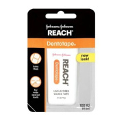 REACH Dentotape Waxed Floss, Unflavored 100 Yards