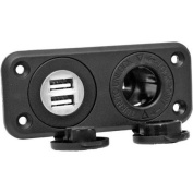 Prime Products 08-6410 12V Receptacle with Dual USB Ports
