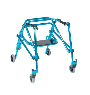 Wenzelite Rehab Nimbo Rehab Lightweight Posterior Posture Walker with Seat, Cornflower Blue, Youth, 1 ea