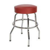 Richardson Seating Corp 1950RED-24 4950cm - 60cm . Floridian Swivel Counter Stool & amp;#44; Red - Chrome