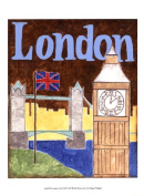 Old World Prints OWP44265D London -A Poster Print by Megan Meagher -9.5 x 13