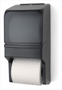 E-Z Taping System RD0025-01 Two Roll Standard Tissue Dispenser in Dark Translucent