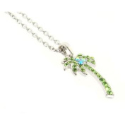 DDI 376580 Palm Tree Necklaces - Green Case Of 3