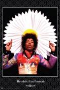 Scorpio Posters SCO3063 Jimi Hendrix Fan Portrait Poster Print - 24 x 36