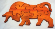 THE PUZZLE-MAN TOYS W-1190 Wooden Educational Jig Saw Puzzle - Bull