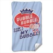 Trevco DBL153-BKT1-0 90cm x 150cm . Dubble Bubble And Burst Bubble Fleece Blanket - White