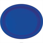 Creative Converting 433147 25cm X 30cm . Cobalt Oval Platters Paper - Case of 96