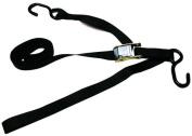 Tie 4 Safe CT02-606-W2F-ST-2P-Black 2.5cm . x 1.8m Utility Tie Down Strap Plus Loop End