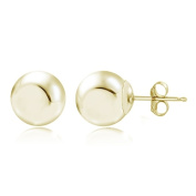 Lion Jewellers ESG13979-5 5 mm. 14K Yellow Gold Ball Stud Earring