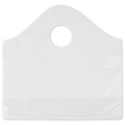 Deluxe Small Business Sales 53-SPWVS-C 12 x 10cm x 28cm . Frosted Wave Merchandise Bags Clear