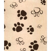 Deluxe Small Business Sales 11-02-PAWS 50cm x 80cm . Paws Tissue Paper Black on Kraft