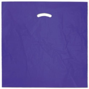 Deluxe Small Business Sales 248-2020-14 50cm x 50cm . and 13cm . BG Die-Cut Handle Bags Purple