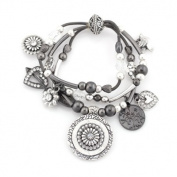C Jewellery Silver Charm Stretch Bracelets