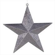 NorthLight 60cm . Commercial Size Pewter-Coloured Glitter 5-Pointed Star Christmas Ornament