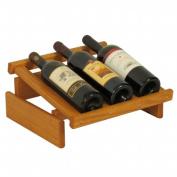 Wooden Mallet WRD3MO 3 Bottle Dakota Wine Display