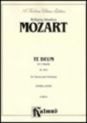 Alfred 00-K06331 Mozart Te Deum K141 V Book