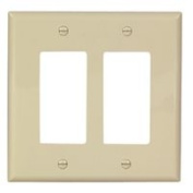 Cooper Wiring PJ262V 2-Gang Unbreakable Decorator Plate Ivory