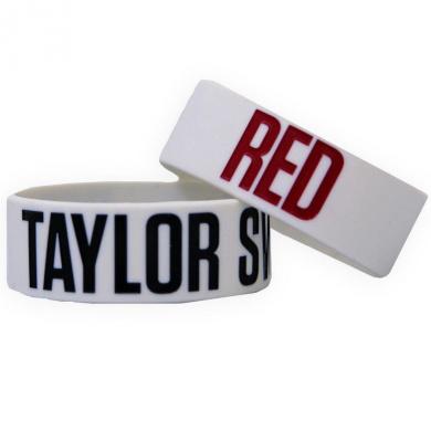 "Taylor Swift Grey ""RED"" Rubber Bracelet"