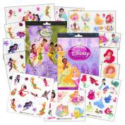 Disney Girls Tattoos Party Pack ~ Disney Princess & Disney Fairies Tattoos - 100 Assorted Temporary Tattoos ~ Cinderella, Ariel, Tiana, Belle, Tinkerbell, and More!
