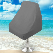 Boat Seat Cover Helm / Helmsman / Bucket Single Seat Storage Cover - 50cm L x 60cm W x 60cm H - Grey Heavy Duty Water, Mildew, and UV Resistant Thick Polyester Fabric