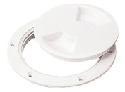 Sea Dog 337150-1 Screw Out Deck Plate, 13cm - 1.1cm / White