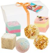 "Set of 6 BRUBAKER Cosmetics Bath Bombs ""Carribian Daiquiri"" Handmade & Natural"