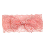 Baby Hair Accessories Koly Girls Baby Kids Lace Big Bow Hair Band Baby Head Wrap Band