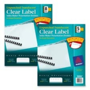 Avery Consumer Products AVE16062 Translucent Index Dividers- w-Label Sheet- 5-Tab- Unpunched- CL