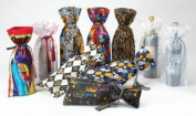 Joann Marie Designs IBT6X15SS Printed Wine Bag - Silver Stars Pack of 12