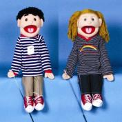 Sunny Toys GS4663 70cm . Black-Haired Boy Good For Life Full Body Puppet