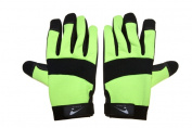 Seattle Glove 9-HVGMC20-L 37cm . High Visibility Green Synthetic Mechanics Glove Large - Pair