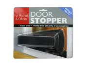 Bulk Buys HT017-72 Black Plastic Heavy Duty Door Stopper - Pack of 72