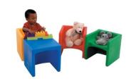 Children s Factory CF910-009 Chair Cube- Blue