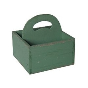 Cheungs FP-4199T Teal Wooden Square Caddy