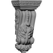 Ekena Millwork COR02X01X05GR 7cm . W x 4.1cm . D x 14cm . H Architectural Granada Corbel
