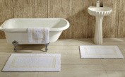 Better Trends BAHO2134WHIV Hotel Collection Bathrug White & Ivory - 50cm x 90cm . Set of 2
