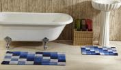 Better Trends 2PC2440BL Tiles Bathrug Blue - 60cm x 100cm . 2 Pieces