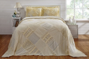 Better Trends BSRCTWYE Twin Ruffled Chenille Patchwork Bedspread Yellow - 210cm .