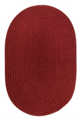 Rhody Rug S121R024X036 Solid 2x3 Wool Rug Barn Red
